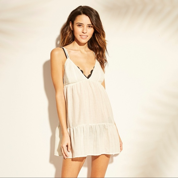 8310a1dabc Babydoll Beach Cover Up Embroidered Dress. NWT. Xhilaration.  M_5c8c091b34a4ef27d6774a74. M_5c8c092b4ab633159e665fc8.  M_5c8c094b0cb5aa61afbe6df9